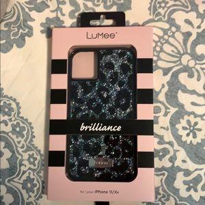 LuMee crystal leopard print iPhone 11/XR case